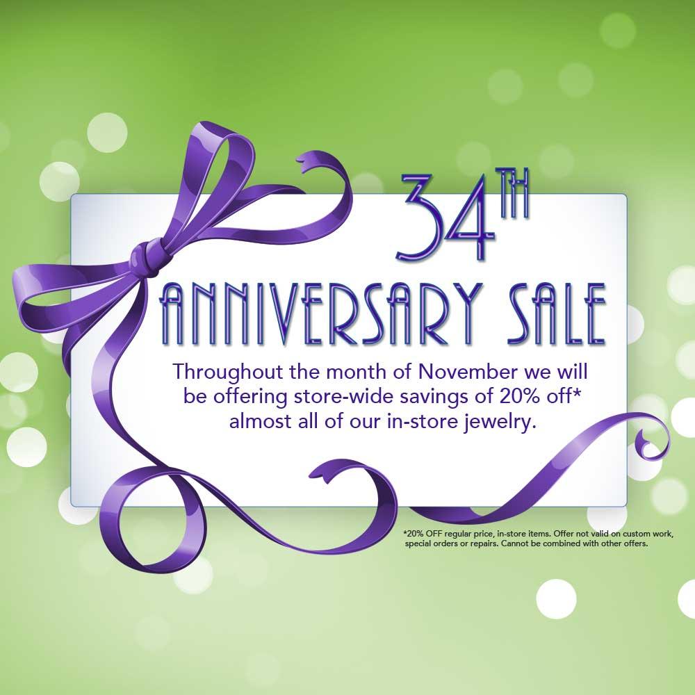 2153debf230 34th Anniversary Jewelry Sale